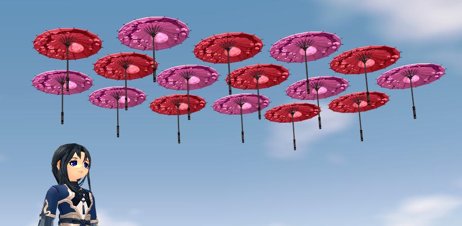 Mabinogi 12th Anniversary Homestead Classic Eastern Sky Umbrella
