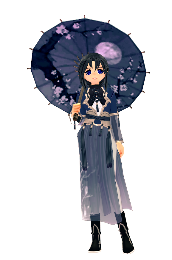 Mabinogi 12th Anniversary Classic Eastern Umbrella and Classic Eastern Outfit