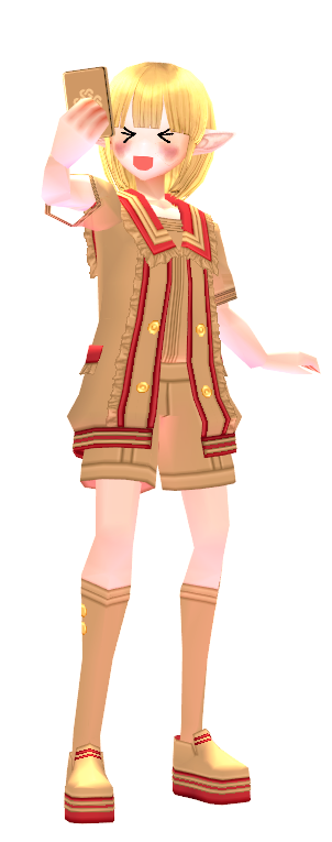 Mabinogi Dyed Marine Male Outfit with Selfie Gesture Card