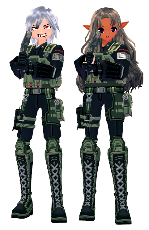 Mabinogi Soldier's Combat Gear Outfit Box (M+F)