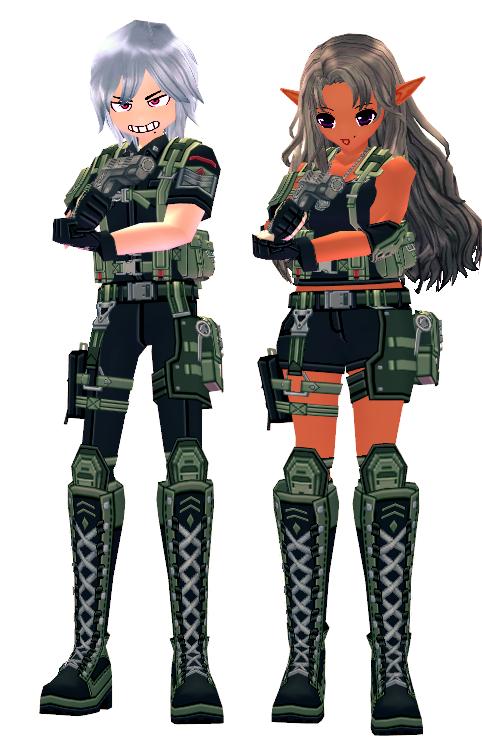 Mabinogi Mercenary's Combat Gear Outfit Box (M+F)
