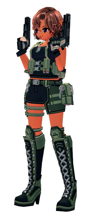 Mabinogi Soldier's Automatic Pistol Appearance Scroll