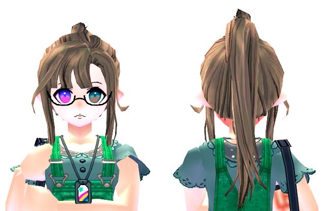 Mabinogi Modern School Wig and Glasses (F)