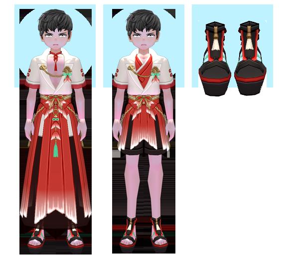 Mabinogi Deep Sea Merman Suit (M), Mabinogi Shallow Waters Merman Suit (M), Mabinogi Deep Sea Mermaid Sandals (M)