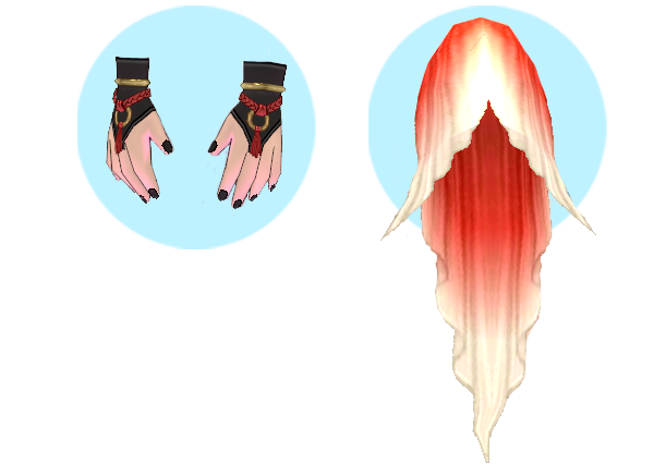 Mabinogi Deep Sea Merfolk Gloves, Mabinogi Shallow Waters Merman Suit (M), Mabinogi Deep Sea Merfolk Tailfin