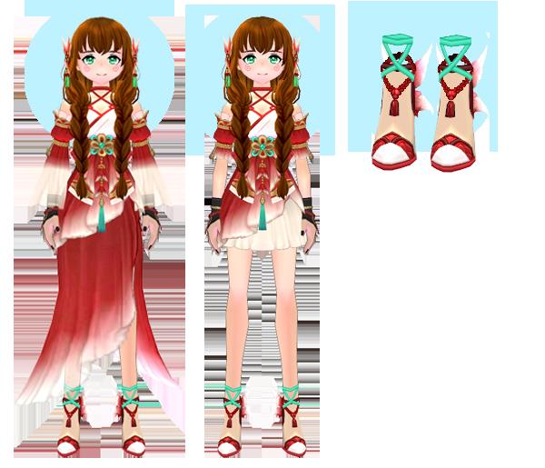Mabinogi Deep Sea Mermaid Dress (F), Mabinogi Shallow Waters Mermaid Dress (F), Mabinogi Deep Sea Mermaid Heels (F)