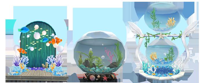 Mabinogi Homestead Deep Sea Backdrop, Mabinogi Homestead Deep Sea Fishbowl, Mabinogi Homestead Deep Sea Hourglass
