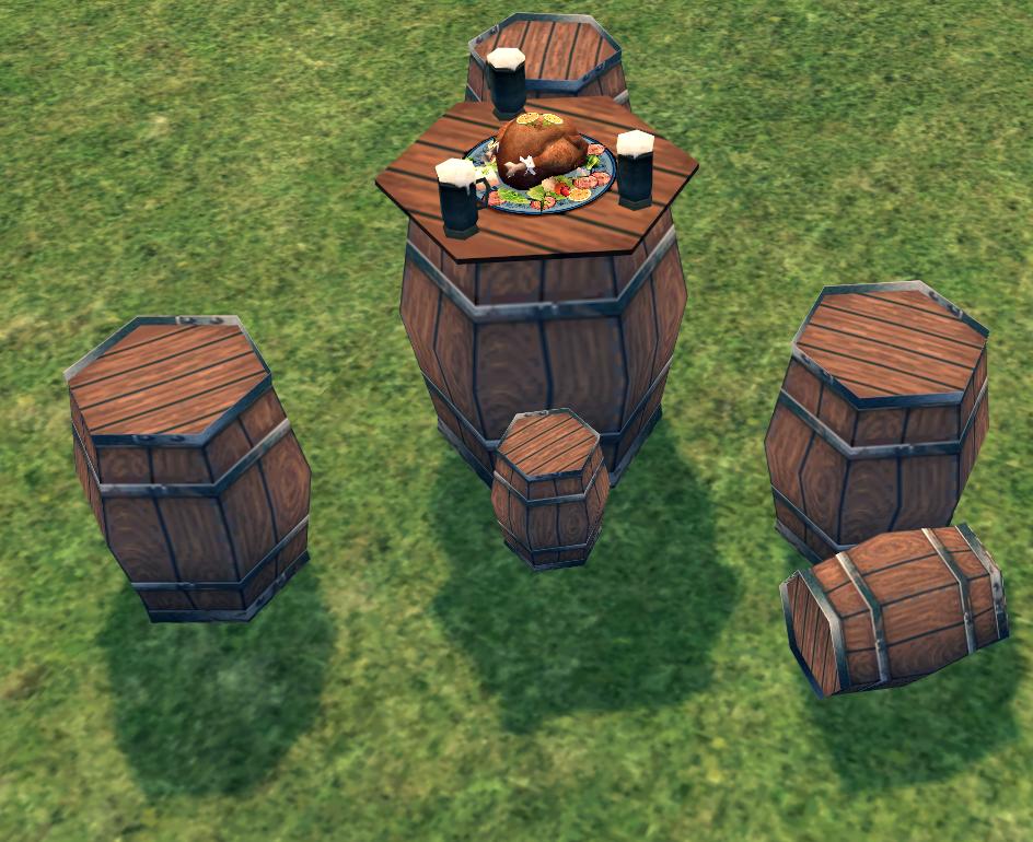 Mabinogi Homestead Oak Barrel Table