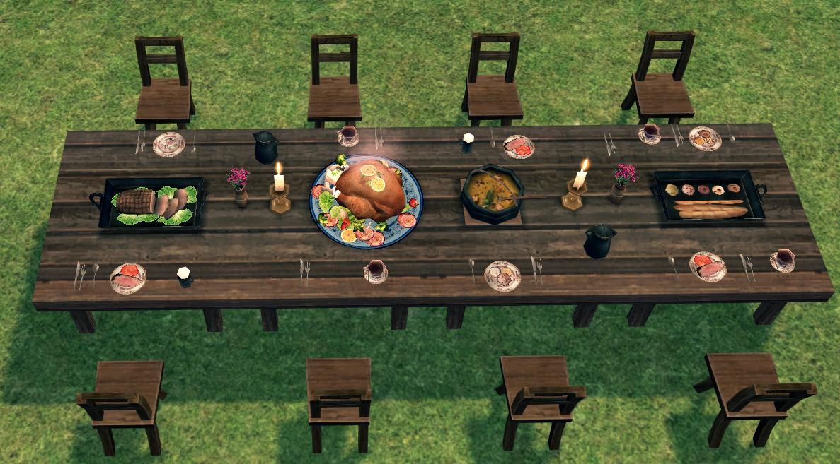 Mabinogi Homestead Autumn Banquet Table