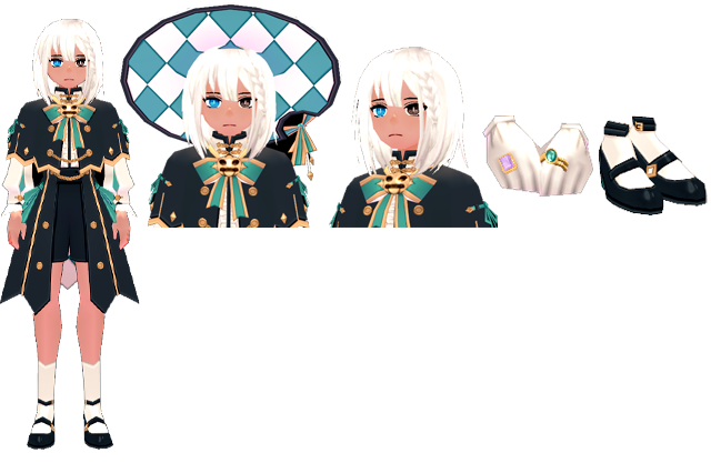 Mabinogi Magical Halloween Mage Outfit (M), Mabinogi Magical Halloween Mage Wig and Hat (M), Mabinogi Magical Halloween Mage Wig (M), Mabinogi Magical Halloween Mage Ring (M), Mabinogi Magical Halloween Mage Shoes (M)