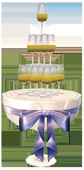 Mabinogi Homestead Wedding Champagne Tower