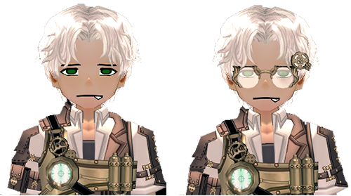 Mabinogi Steam Engineer Wig (M), Mabinogi Steam Engineer Wig and Spectacles (M)