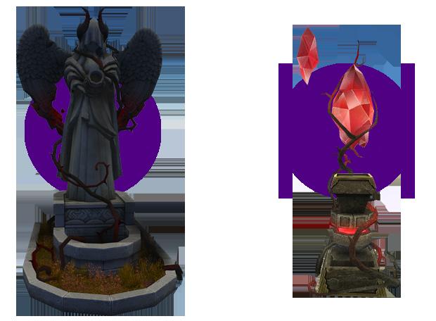 Mabinogi Homestead Goddess's Abyssal Energy, Mabinogi Homestead Dark Barrier Stone Pillar