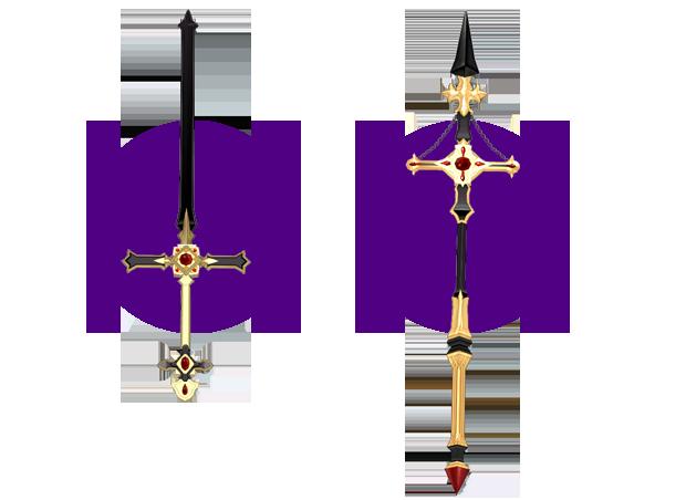 Mabinogi Dark Divination Two-Handed Sword Appearance Scroll, Mabinogi Dark Divination Lance Appearance Scroll